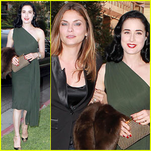 Dita Von Teese: Caulfield's Dinner with Jodi Lyn O'Keefe!