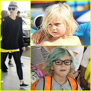Gwen Stefani: Leaving New York with Kingston & Zuma
