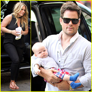 Hilary Duff: New York Dinner with Baby Luca!