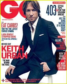 Keith Urban Covers 'GQ Australia' August 2012