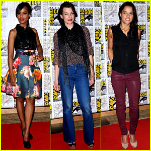 Kerry Washington & Milla Jovovich: Comic-Con Panels!