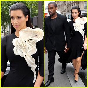 Kim Kardashian: Stephane Rolland Show with Kanye West!