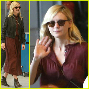Kirsten Dunst Touches Down in Paris