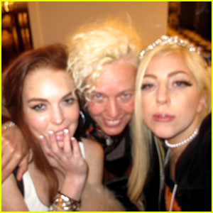 Lady Gaga Shares Pics From Sleepover with Lindsay Lohan