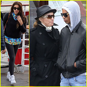 Madonna: Seine River Cruise with Brahim Zaibat & the Kids!