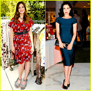 Mandy Moore & Dita Von Teese: Dannijo & Tucker Tea Party!