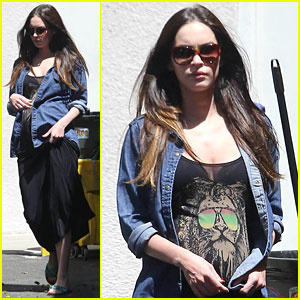 Megan Fox: Bob Marley Themed Lion Dress!