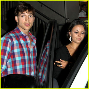 Mila Kunis &#038; Ashton Kutcher: Duplex Dinner Date