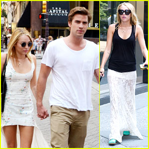 Miley Cyrus & Liam Hemsworth: Capital Grille Lunch Date!