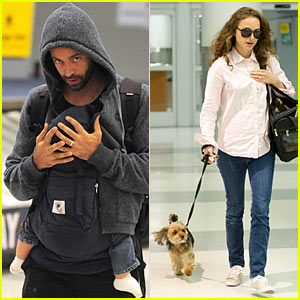Natalie Portman & Fam Whiz Through JFK  Airport