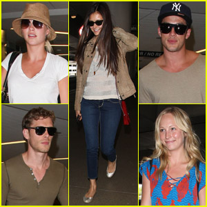Nina Dobrev: Jet Setting with 'Vampire Diaries' Cast!
