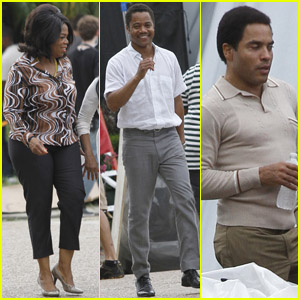 Oprah Winfrey & Cuba Gooding Jr: 'The Butler' Set!