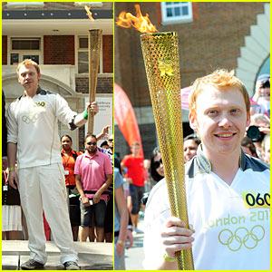 Rupert Grint: Olympics Torch Flame!