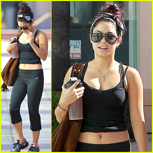 Vanessa Hudgens: Toned Gym Tummy!
