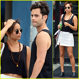 Zoe Kravitz & Penn Badgley: East Village Lovers!