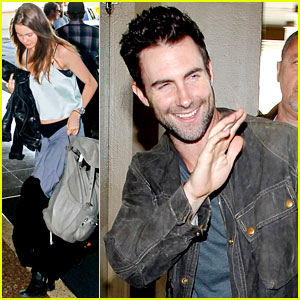 Adam Levine &#038; Behati Prinsloo: Maroon 5 Tour Hits Rio!
