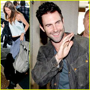 Adam Levine & Behati Prinsloo: Maroon 5 Tour Hits Rio!