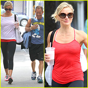 Cameron Diaz: Big Apple Workout!