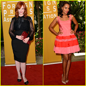 Christina Hendricks & Kerry Washington: HFPA Luncheon!