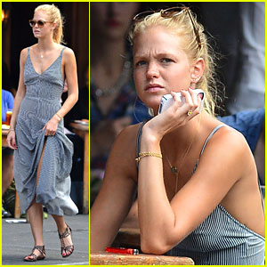 Erin Heatherton Lunches While Leo DiCaprio Works on 'Wolf'