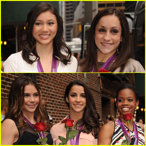 Gabby Douglas: Fierce Five Visit 'Letterman'