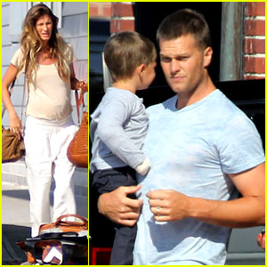 Gisele Bundchen & Kids Leave Tom Brady in Boston