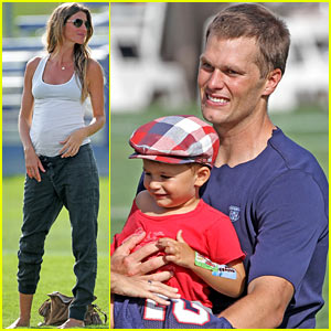 Gisele Bundchen & Tom Brady: Patriots Training Camp with the Boys!