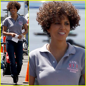 Halle Berry: 'The Hive' Set Smiles!