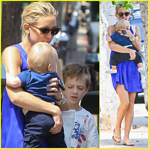 Kate Hudson: Brentwood with Ryder &#038; Baby Bingham!