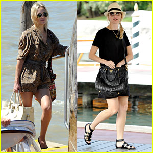 Kate Hudson & Naomi Watts Prep for Venice Film Festival
