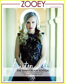 Kristen Bell Covers 'Zooey' Magazine September 2012