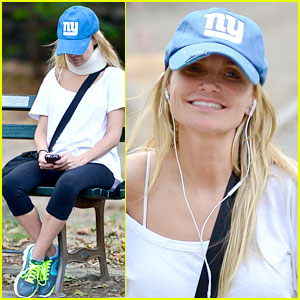 Kristin Chenoweth: Neck Brace in Central Park