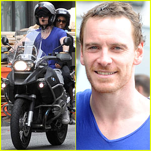 Michael Fassbender: Motorcycle Ride with Nicole Beharie!