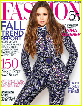Nina Dobrev: 'Fashion' Magazine Cover Girl!