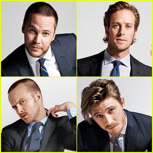 Taylor Kitsch, Garrett Hedlund, & Aaron Paul: 'Esquire' Cover Guys!