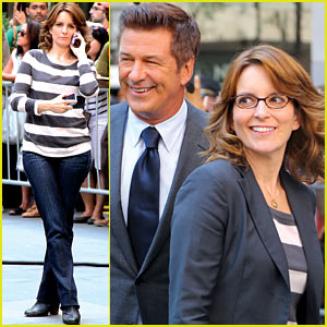 Tina Fey: '30 Rock' Set with Alec Baldwin!