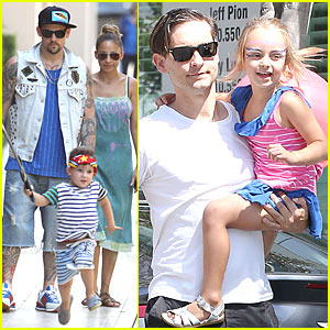 Tobey Maguire & Nicole Richie: Birthday Party With Kids!