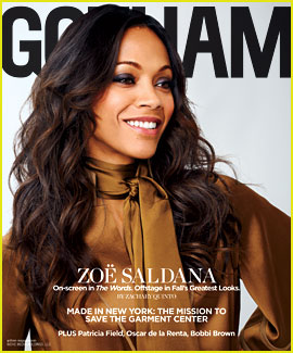 Zoe Saldana Covers 'Gotham' Magazine September 2012