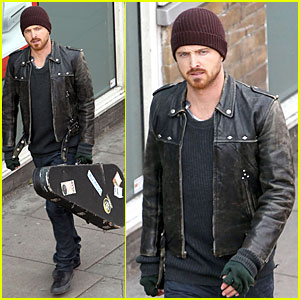 Aaron Paul: 'A Long Way Down' Filming in London!
