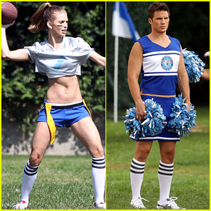 AnnaLynne McCord: '90210' Football Fun!