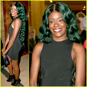 Azealia Banks: Green Hair at Thierry Mugler Show!