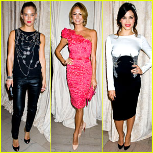 Bar Refaeli & Stacy Keibler: 'Marchesa' Show at NYFW!