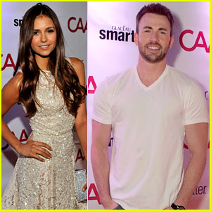 Chris Evans & Nina Dobrev: CAA Toronto Film Festival Party!