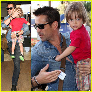 Colin Farrell & Henry: Father-Son Flyers