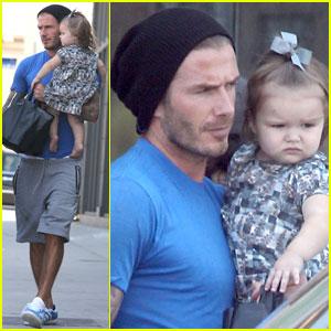 David Beckham: West Hollywood Errands with Harper!