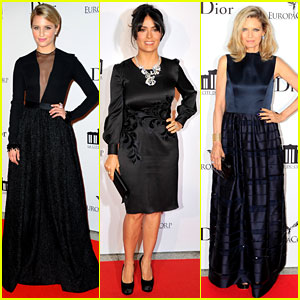 Dianna Agron & Salma Hayek: La Cite Du Cinema Launch!