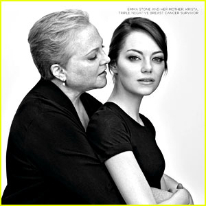 Emma Stone & Mom Krista Fight Breast Cancer with Revlon