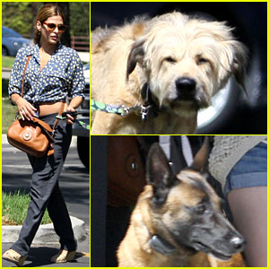 Eva Mendes: Dog Day Afternoon with Hugo & George!