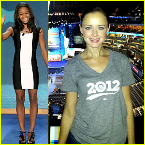 Alexis Bledel & Gabby Douglas: Democratic National Convention!