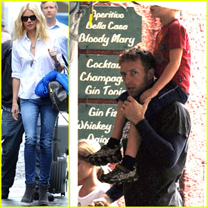 Gwyneth Paltrow & Chris Martin: Portofino with the Kids!